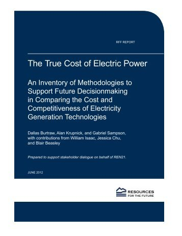 The True Cost of Electric Power - India Environment Portal