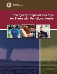 Emergency Preparedness Tips for Those with ... - State of Illinois