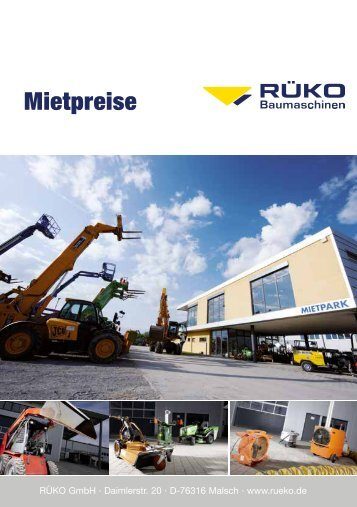 Mietpreisliste - Rüko GmbH