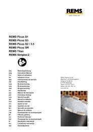 REMS Picus S1 REMS Picus S3 REMS Picus S2 / 3 ... - REMS WERK