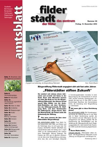 Amtsblatt KW 50.pdf - Stadt Filderstadt