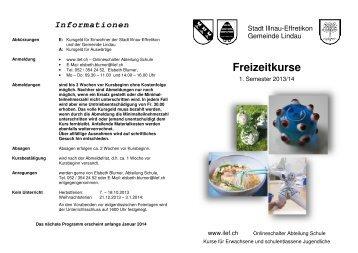 Freizeitkurse - Stadt Illnau-Effretikon