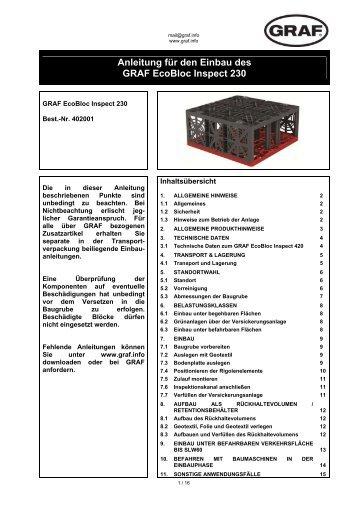 Anleitung für den Einbau des GRAF EcoBloc Inspect 230