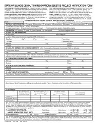 state of illinois demolition/renovation/asbestos project notification form