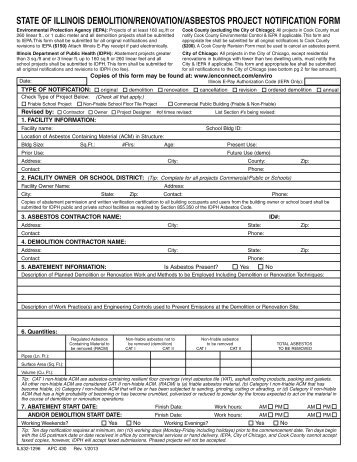 asbestos abatement project notification form - Service NL ...
