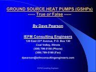 GROUND SOURCE HEAT PUMPS (GSHPs) - Illinois Department of ...
