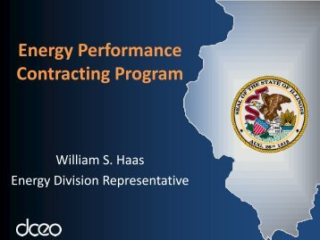 Energy Performance Contracting Program - Illinois Department of ...