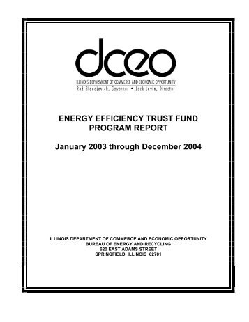 ENERGY EFFICIENCY TRUST FUND PROGRAM REPORT January ...