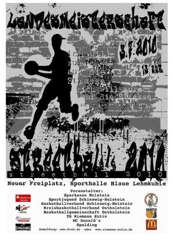 Anmeldung Landesmeisterschaft Streetball Challenge 2010