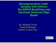 Genotyping Dairy Cattle Samples with Infinium BovSNP50 ... - Illumina