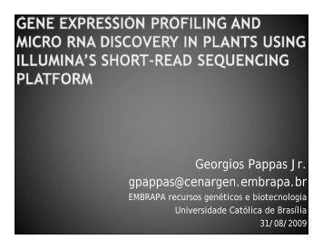 Georgios Pappas Jr. gpappas@cenargen.embrapa.br - Illumina