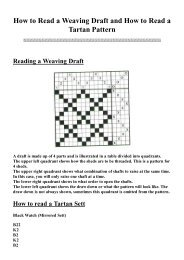 How to Read a Weaving Draft and How to Read a Tartan Pattern