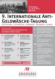 9. Internationale Anti- Geldwäsche-Tagung - AH Akademie für ...