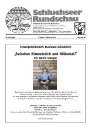 Rundschau Nr. 40.pdf - Gemeinde Schluchsee