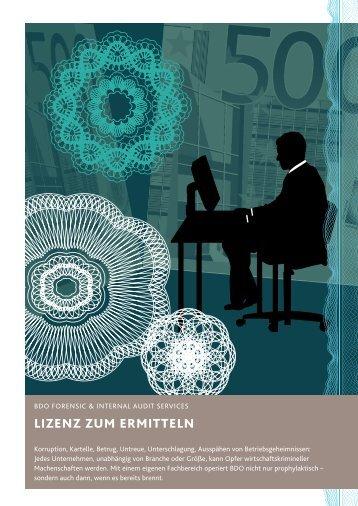 LiZenZ Zum ermitteLn - BDO