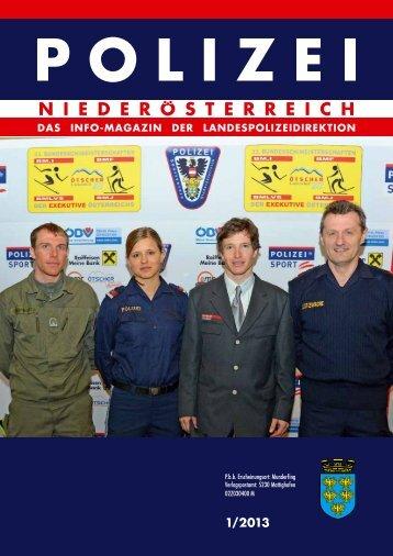 Ausgabe 1/2013 - Polizei © Polizei