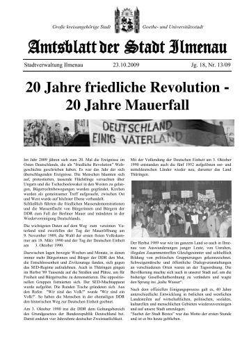 20 Jahre friedliche Revolution - Ilmenau