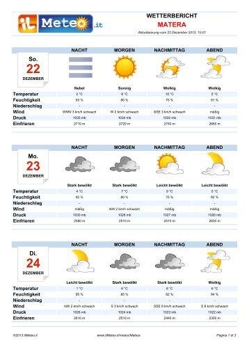 Wetterbericht Matera - Il Meteo.it