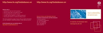 Keys to understanding the world of work - International Labour ...