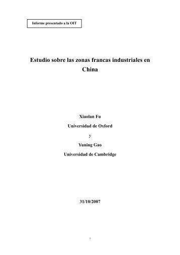 Estudio sobre las zonas francas industriales en China - International ...