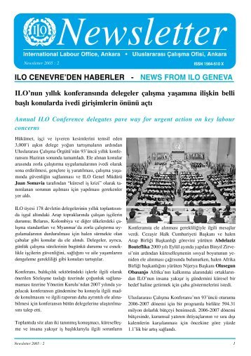 ılo cenevre'den haberler - news from ılo geneva - International ...