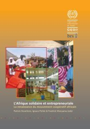 L'Afrique solidaire et entrepreneuriale - International Labour ...