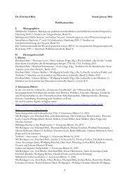 Dr. Eberhard Birk Stand: Januar 2014 Publikationsliste I ...