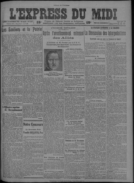24 novembre 1923 - Presse régionale