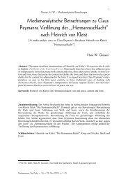 Medienanalytische Betrachtungen zu Claus Peymanns Verfilmung ...