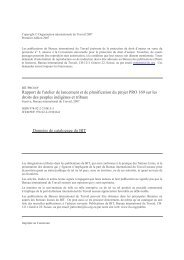 Rapport de l'atelier de lancement et planification du projet PRO 169 ...