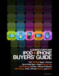 iLounge 2008 Buyers' Guide