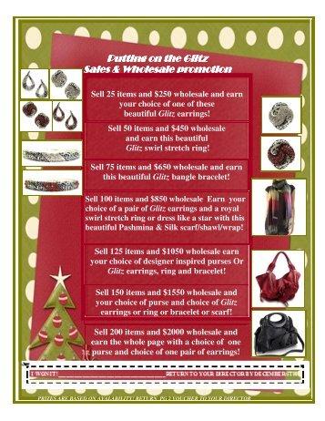 Putting on the Glitz Putting on the Glitz Sales & Wholesale promotion ...