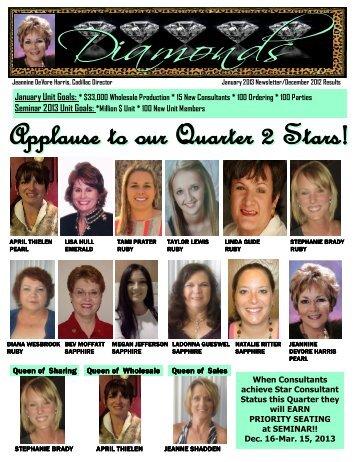 Jeannine DeVore Harris January 2013 Newsletter - I Love My Unit Site