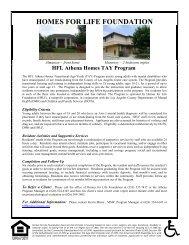 Homes for Life Foundation - Independent Living Program