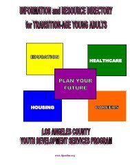 PLAN YOUR FUTURE - The Independent Living Program