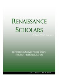 Renaissance Scholars Application - Independent Living Program