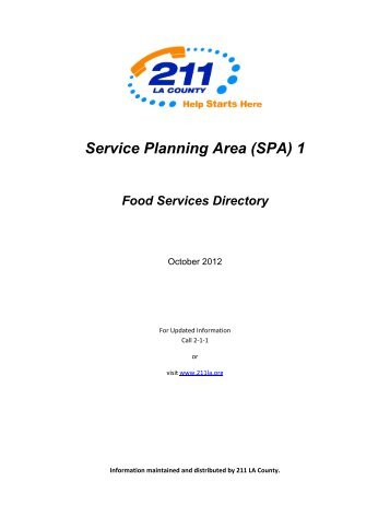 Food Directory - Independent Living Program