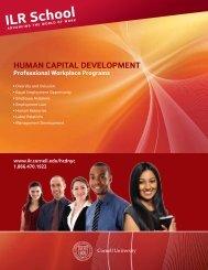 HUMAN CAPITAL DEVELOPMENT - ILR School - Cornell University
