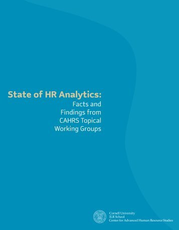 State of HR Analytics: