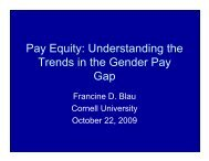 Pay Equity: Understanding the Trends in the ... - Cornell University