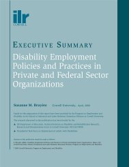 Disability Employment Policies and Practices in Private and Federal ...