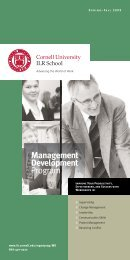 Management Development - Cornell University School of Industrial ...