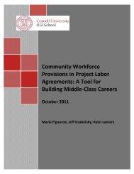 Community Workforce Provisions - ILR School - Cornell University