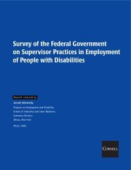 Survey of the Federal Government on Supervisor Practices in ...