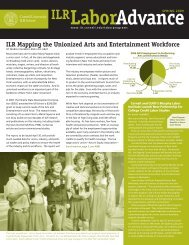 ILR Mapping the Unionized Arts and Entertainment Workforce