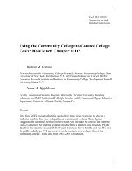 Using the Community College to Control College Costs - ILR School ...