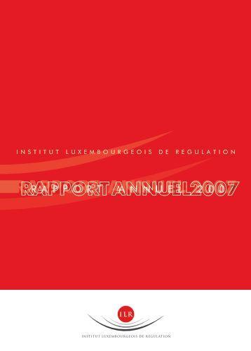 Rapport annuel 2007 - ILR