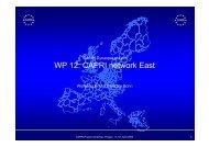 Wolfgang Britz, University Bonn:WP 12: CAPRI network east