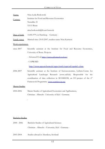 to read complete cv in english