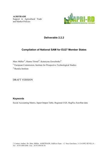 Müller et.al., Compilation of National SAM for EU27 Member States